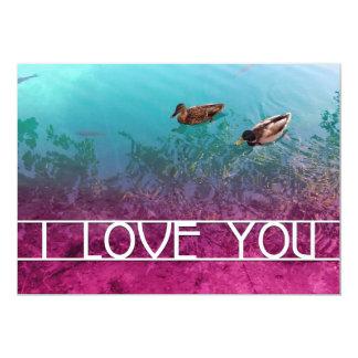 jag älskar dig damm 12,7 x 17,8 cm inbjudningskort