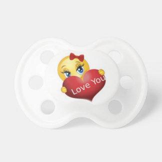 Jag älskar dig den Emoji attrappen, nappar