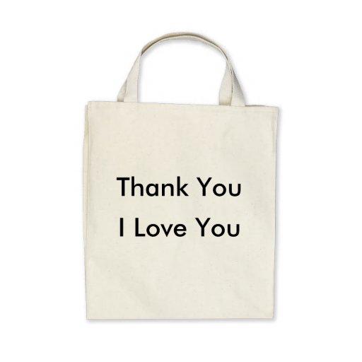 Jag älskar dig - den organiska totot för tack kasse