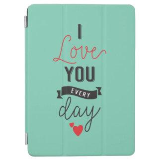 Jag älskar dig det dagliga fodral för iPad air skydd