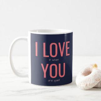 Jag älskar dig det roliga citationstecknet för kaffemugg