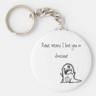 Jag älskar dig dinosauren rund nyckelring