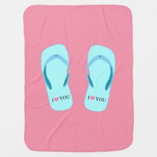 Jag älskar dig filten för babyen för bebisfilt