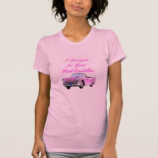Jag älskar dig för din rosa Cadillac vintage50-tal Tee Shirts