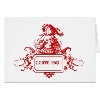 Jag älskar dig! hälsningskort