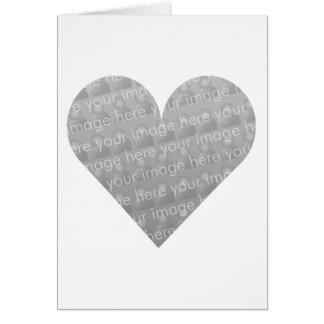 Jag älskar dig hjärtadesignen hälsningskort