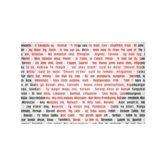 Jag älskar dig i 100 språk canvastryck