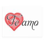 Jag älskar dig i spanjor - Te amo Vykort