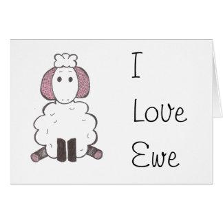 Jag älskar dig - jag älskar tackakortet hälsningskort