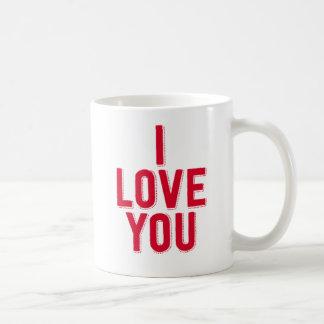 Jag älskar dig kaffemugg