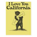 Jag älskar dig Kalifornien Vykort