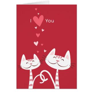 Jag älskar dig kattvalentinen hälsningskort