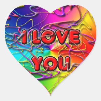Jag älskar dig klistermärken