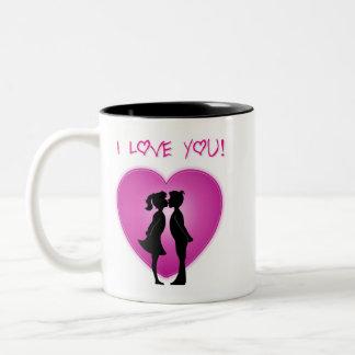 Jag älskar dig koppen Två-Tonad mugg