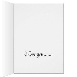 Jag älskar dig kortet hälsningskort