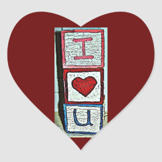 Jag älskar dig kvarter hjärtformat klistermärke