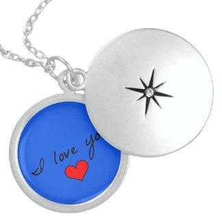 Jag älskar dig locketen sterling silver halsband