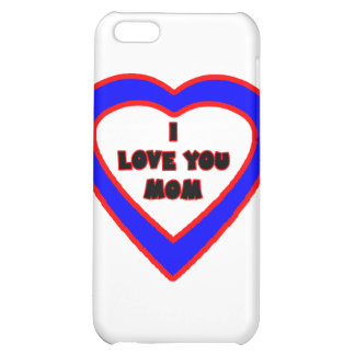 Jag älskar dig MAMMAblåtthjärta de MUSEUMZazzle iPhone 5C Mobil Fodral