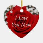 Jag älskar dig mammaprydnaden jul dekorationer