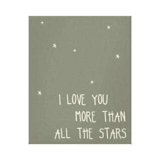 Jag älskar dig mer än alla stjärnor canvastryck