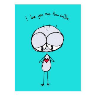 Jag älskar dig mer än kaffevykort vykort