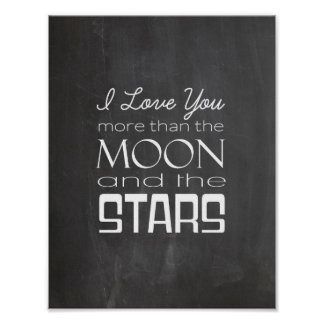 Jag älskar dig mer än månen och stjärnorna poster