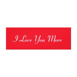 Jag älskar dig mer canvastryck
