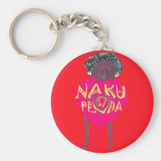 Jag älskar dig Nakupenda Kenya Swahilikonst Rund Nyckelring