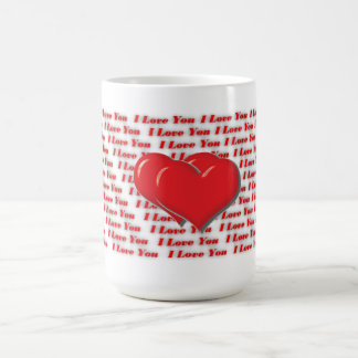 Jag älskar dig rånar rött kaffemugg