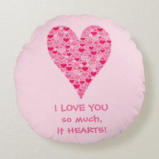 Jag älskar dig så mycket det hjärta för mycket rund kudde