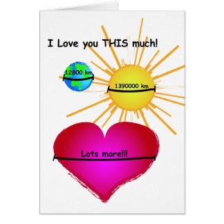 Jag älskar dig som ÄR DENNA mycket! Hälsningskort
