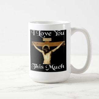 Jag älskar dig som är denna mycket kaffemugg
