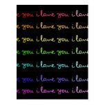 jag älskar dig som jag älskar dig, jag älskar dig  vykort