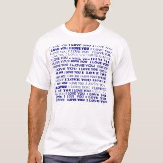 Jag älskar dig T-tröja - blått (tillfoga ditt egna T Shirt