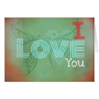 Jag älskar dig tatueringkonstkortet hälsningskort