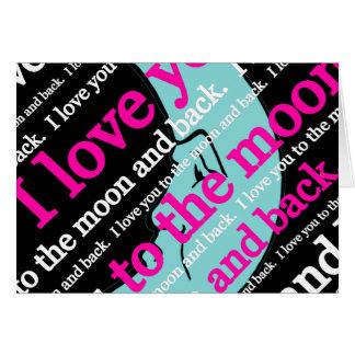 Jag älskar dig till månen och de tillbaka gåvorna OBS kort