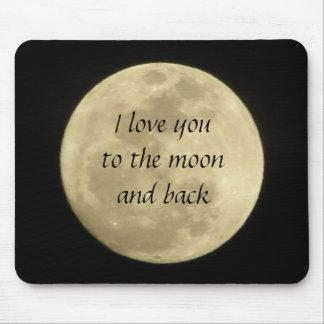 Jag älskar dig till månen och den tillbaka musmatta
