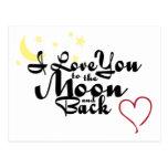 Jag älskar dig till månen och den tillbaka vykorte