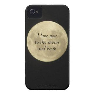 Jag älskar dig till månen och det tillbaka fodral iPhone 4 skal