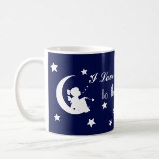 Jag älskar dig till månen och drar tillbaka - den kaffemugg