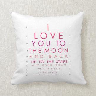 Jag älskar dig till månen och drar tillbaka kudde