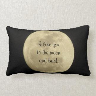 Jag älskar dig till månen och drar tillbaka kudder lumbarkudde