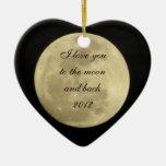 Jag älskar dig till månen och drar tillbaka prydna julgranskula