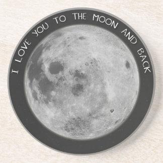 Jag älskar dig till månen och drar tillbaka Starry Underlägg Sandsten