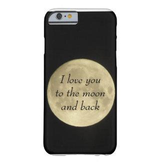 Jag älskar dig till moonaen och det tillbaka barely there iPhone 6 skal