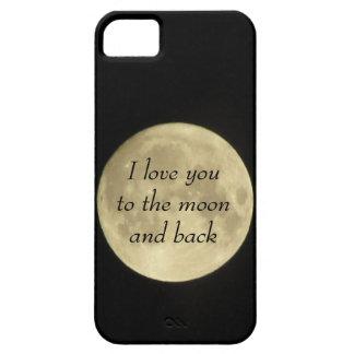 Jag älskar dig till moonaen och det tillbaka iPhone 5 fodraler