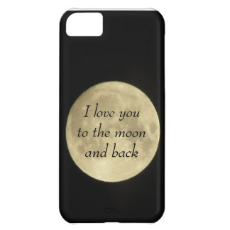 Jag älskar dig till moonaen och det tillbaka iPhone 5C fodral