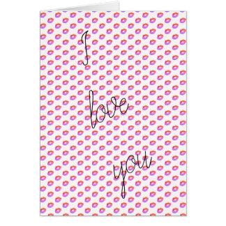Jag älskar dig valentinen hälsningskort