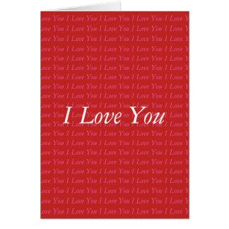 Jag älskar dig valentinkortet hälsningskort