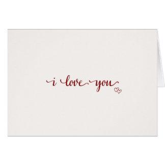 Jag älskar dig, vanligt & enkelt hälsningskort